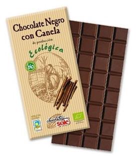 Ciocolata neagra BIO cu scortisoara Chocolates Sole, 100 gr