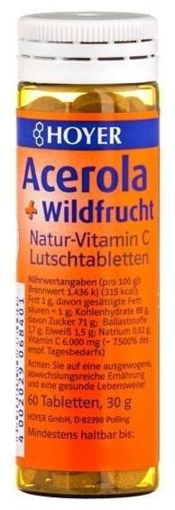 Hoyer – Acerola si fructe de padure - Tablete masticabile Bio, 60 de tablete