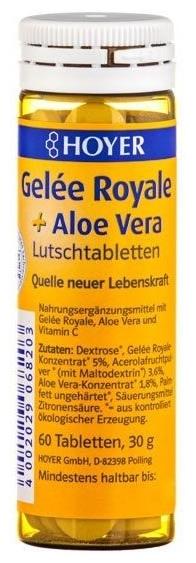 HOYER - Gelee Royale + Aloe vera -  Tabelete masticabile Bio, 60 tb