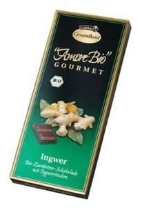 Ciocolata amaruie cu ghimbir, 55% cacao, 100 g