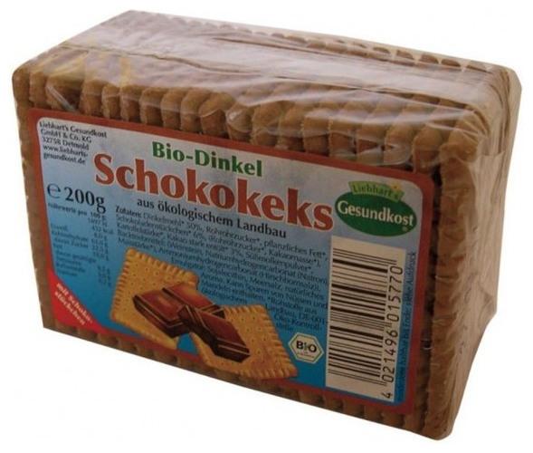 Biscuiti bio cu alac si ciocolata, 200 g