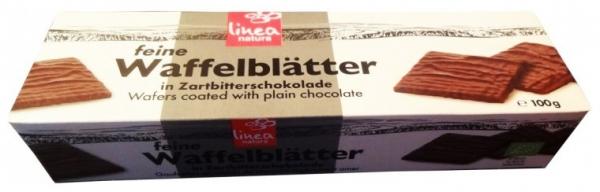 Napolitane Bio trase in ciocolata neagra, 100 g