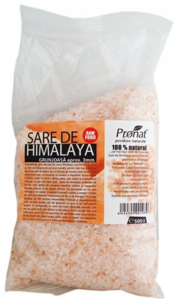 Sare de Himalaya grunjoasa aprox. 3mm, 500 g