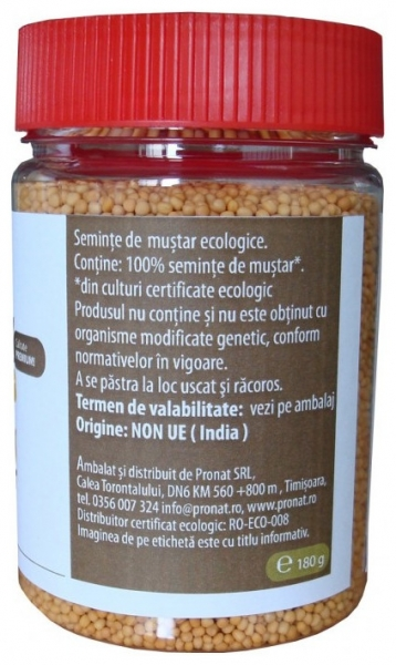 Seminte de mustar Bio, 180 g