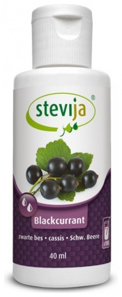 Stevia cu COACAZE Negre 40ml Numai 0,4 kcal/ pahar!