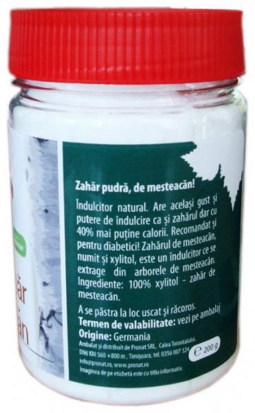 Zahar de mesteacan - Xylitol, 200 g