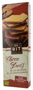 De-Rit – Choco Duo, biscuiti bio cu ciocolata neagra, 150g