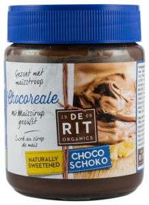 Chocoreale - Crema de ciocolata indulcita cu sirop de porumb, BIO  Fairtrade, 270g