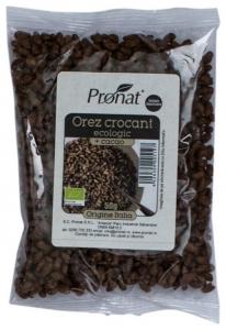 Orez Bio expandat crocant cu cacao 50g