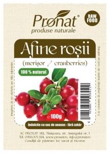 Afine rosii deshidratate 100gr