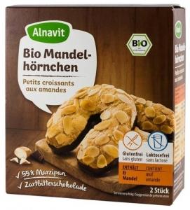 Cornulete fara gluten BIO cu martipan si ciocolata 150 gr