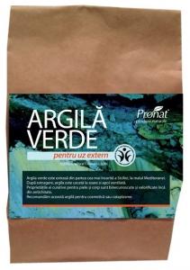 Argila verde fina, pentru uz extern, 500 gr