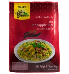 Asian Home Gourmet – Pasta cu condimente pentru orez thailandez cu ananas , 50g