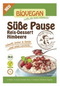 Desert de orez cu topping de zmeura Bio, 69 g