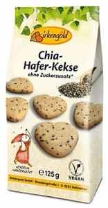 Biscuiti BIO din Ovaz cu seminte de CHIA si zahar de mesteacan 125 gr
