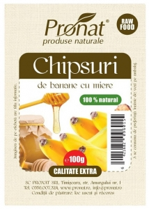 Chipsuri de banane cu miere 100g