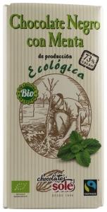 Chocolates Sole – Ciocolata neagra cu menta BIO si Fairtrade 73% cacao, 100g
