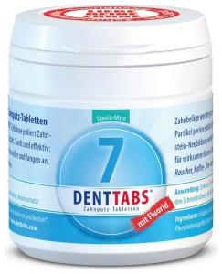 Tablete pentru curatarea dintilor cu menta si stevie, cu fluor – 125 tablete