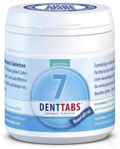 Tablete pentru curatarea dintilor cu menta si stevie, fara fluor – 125 tablete
