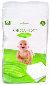 Dischete  patrate Organyc Baby din bumbac organic -60 buc