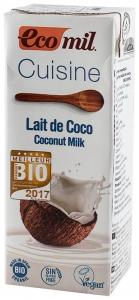 ECOMIL CUISINE– Crema vegetala Bio pentru gatit pe baza de cocos, 200 ml