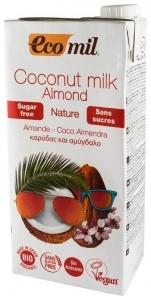 Lapte de cocos cu migdale, bio, 1L