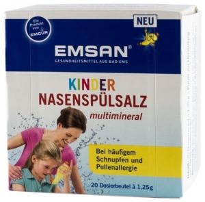 EMSAN - Solutie pentru spalaturi nazale cu multiminerale, pentru copii  20 plicuri a cate 1,25