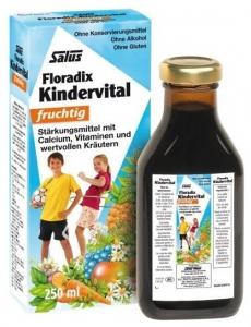 Floradix Elixir bio cu fructe, vitamine si plante copii, 250ml SALUS HAUS