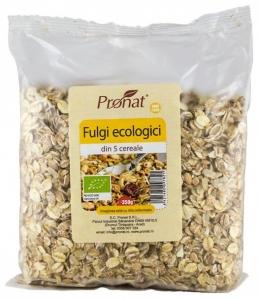 Fulgi din 5 cereale Bio, 350gr