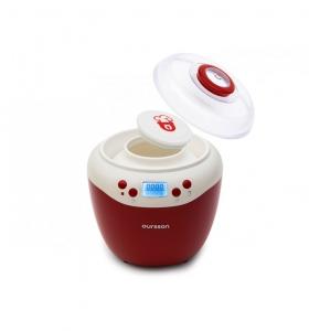 Iaurtiera-fermentator Oursson FE2103D/RD, afisaj LED, 2 programe, 2 L, Protectie la supraincalzire, Rosu