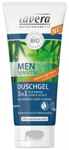 MEN Sensitiv – Gel de dus 3 in 1, 200 ml