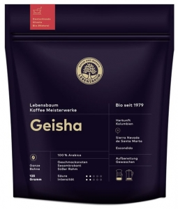 cafea BIO boabe Geisha, 125g