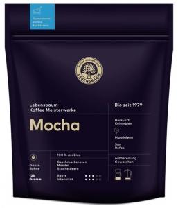 Cafea boabe BIO Mocha, 125g