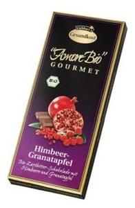 Ciocolata cu Rodie si Zmeura AMORE BIO Gourmet 100gr