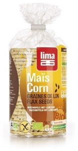 Vafe Bio subtiri din malai cu seminte de in, 150 g