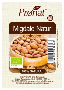 Migdale Bio Natur samburi, 100g, 12-14mm