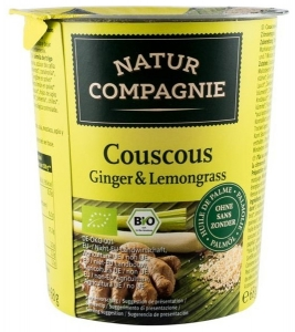 Mancare la pahar Cuscus Ginger  Lemongrass, BIO