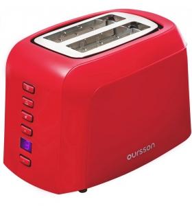 Prajitor de paine Oursson TO2145D/RD, panou de control digital, 800 W, Rosu
