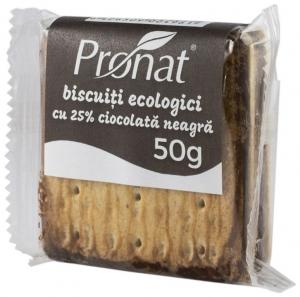 biscuiti bio cu 25% ciocolata neagra, 50g