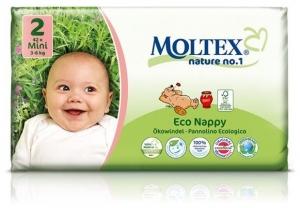 Scutece ECO pentru bebelusi (3-6kg), nr. 2, pachet 42 buc