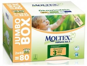 Scutece ECO pentru bebelusi (4-9kg), nr. 3, pachet Jumbo 80 buc