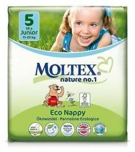 Scutece ECO pentru copii Junior (11-25kg), nr. 5, pachet 26 buc