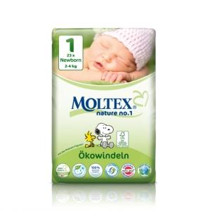 Scutece ECO pentru nou nascuti (2-4kg) nr. 1, pachet 23 buc