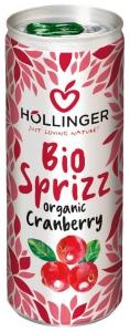 Suc de merisoare Bio Hollinger,  250 ml, Carbogazos