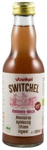 .VOELKEL -SWITCHEL bautura racoritoare enzimatica bio cu zmeura si menta, sirop de artar, otet de mere, ghimbir si lamaie, 200ml