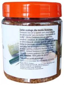 Zahar Bio din trestie, Demerara, 400 g