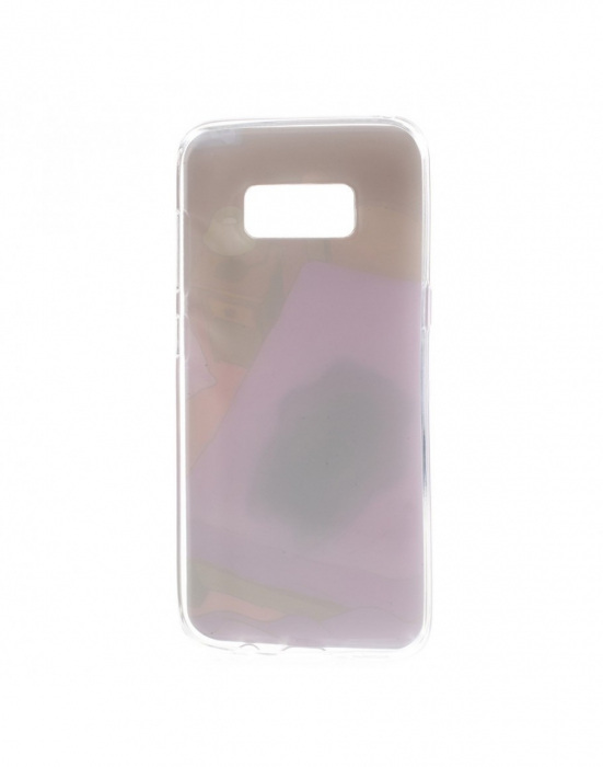Carcasa protectie spate cu pisica Squishy pentru Samsung Galaxy S8, mov