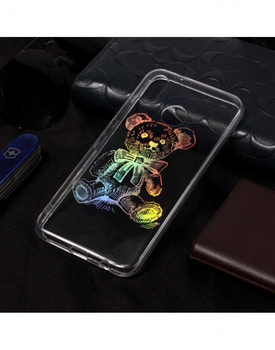Carcasa protectie spate ,,Urs'' din gel TPU pentru Huawei P20 Lite
