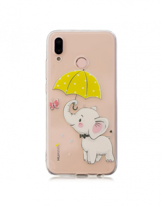 Carcasa protectie ,,Elefant'' din gel TPU pentru Huawei P20 Lite