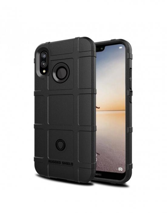 Carcasa protectie spate din gel TPU pentru Huawei P20 Lite, neagra